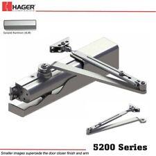 HAGER 5200 MLT 1-6 ALM Size 1-6 Grade 1 Non-Hold Open Door Closer - Aluminum