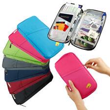 Multi-Functional Passport Holder & Organizer, Waterproof, Zipped Closure Wallet