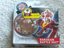 BAKUGAN Mechtanium Surge COMBUSTOID Tan Subterra Battle Suit w Ability Card NIP
