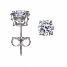 Diamond Earrings 0.20pts TCW 14kt White Gold / 14k Yellow Gold AAA Fine Natural