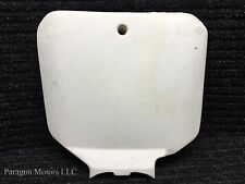 98#3 97 98 99 Honda CR250 CR 250 Front Plastic Guards Number Plate WHITE