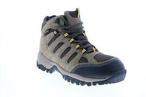 Khombu Allen ALLEN Mens Gray Suede Lace Up Hiking Boots
