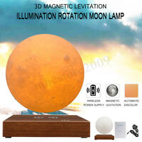3D Magnetic Levitating Moon Lamp Night Light Floating and Spinning Home Decor