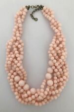 "BAUBLEBAR ANTIQUE GOLD TONE PEACH COLOR RESIN BEADS 19""-21"" NECKLACE"