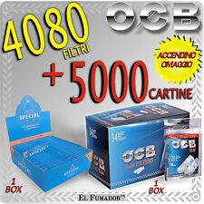 5000 Cartine GIZEH SPECIAL CORTE ORIGINAL Extra Fine + 4080 Filtri OCB SLIM 6mm