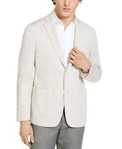 Calvin Klein Men's Tan Slim-Fit Knit Sport Coat Blazer 44R