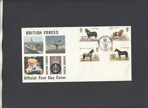 1978 Horses British Forces Postal Service 1000 Official FDC