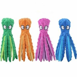 Dog Pet Plush Octopus Shell Toy Squeak Ringing Paper Puppy Chew Sounding Toys