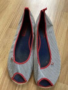 Roxy Size 8 Womens Slip On Open Toe Shoes