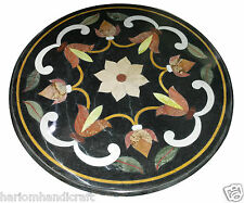 Size 2'X2' Marble Side Coffee Table Top Rare Inlay Floral Ornate Patio Deco H923