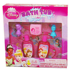 Kids/Girls Disney Princess-Bubble Bath Body Wash-Toy Set-Bath Tub Board Game