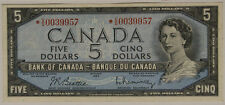 CANADA 5 DOLLARS 1954 SERIE SOSTITUTIVA REPLACEMENT (STELLA/WITH STAR) XF #B773