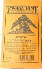 'KYOTO MOSS' Spores For Bonsai Pots, Japanese Gardens