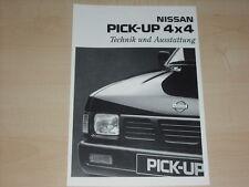41826) Nissan Pick up 4x4 - technische Daten & Ausstattung -  Prospekt 10/1994
