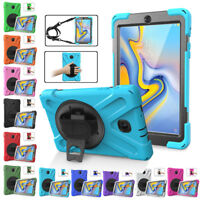 """For Samsung Galaxy Tab A 8.0"""" T387V 2018 Rugged Defender Armor Case Stand Cover"""
