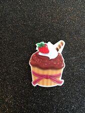 5 pc. Chocolate Cupcake  resin Planar Flatbacks,cabochon,scrapbooking,bow center