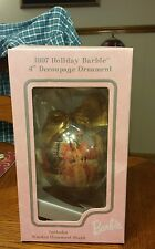 1997 Holiday barbie hanging ornament with stand