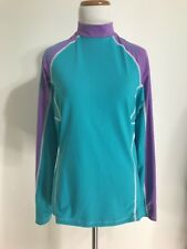 Bare Women's Sunguard Rashguard Aqua Purple Raglan L