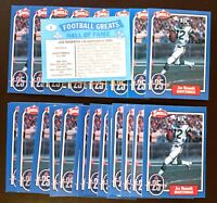 50) JOE NAMATH New York Jets 1988 Swell Football Greats HALL OF FAME Card #2 LOT
