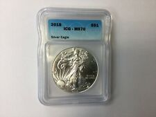 2018 S$1  ICG - MS70 Silver Eagle S$1 ASE