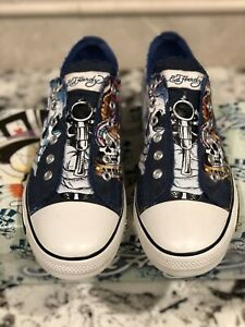 ED HARDY LAPD LOS ANGELES POLICE DEPARTMENT SNEAKERS MENS 12 SHOES LOWRISE