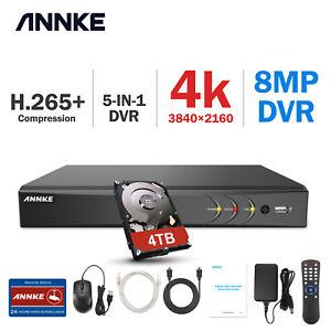 ANNKE 16CH/4CH/8CH 4K/5MP H.265+ DVR Video Home Surveillance Security Recorder