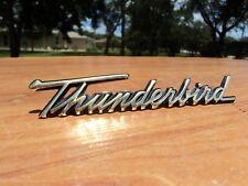 1958 1959 1960 FORD THUNDERBIRD GLOVE BOX DOOR SCRIPT TRIM OEM