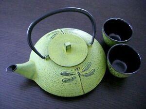 Japanese Cast Iron Tea Set Teapot DFL