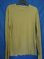 J CREW Beige/Light Brown BROKEN-IN LONG SLEEVE T-SHIRT Knit Top CREW NECK sz M