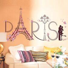 Romantic Paris Tower Wall Sticker Bedroom Living Room PVC Wallpaper House Decor