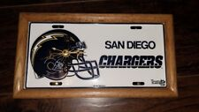 Vintage 1993 San Diego Chargers NFL License plate Wall Clock