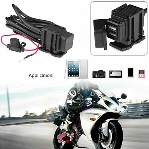 12V Motorcycle Accessories Dual USB Power Socket Waterproof Adapter Charger UK