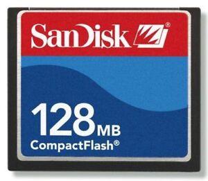 SanDisk 10 x 128MB CompactFlash CF Memory Card Genuine SDCFB-128/SDCFJ-128
