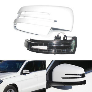 Right Mirror Cover Cap Housing w/ Turn Light Fit For Mercedes W204 W212 W221
