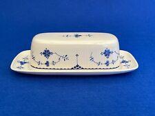 More details for masons blue denmark pottery butter dish -