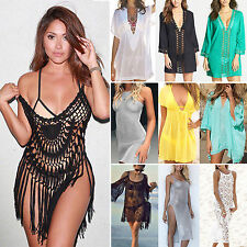 Womens Summer Beach Beachwear Swimwear Bikini Wear Cover Up Kaftan Mini Dress