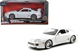 JADA FAST AND FURIOUS BRIAN'S TOYOTA SUPRA 1/24 DIECAST CAR ORANGE NEW IN BOX!!