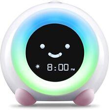Mella New Ready Rise Children's Sleep Trainer Alarm Clock Night Light Sound PiNk