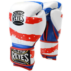 Cleto Reyes Hook and Loop Leather Training Boxing Gloves - USA