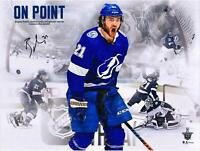 "Brayden Point TB Lightning Signed 16"" x 20"" 5-OT GWG Stylized Photo - LE 20"