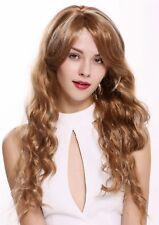 Perücke Damen sehr lang gewellt voll Volumen Blond-Mix platinblond Strähnen