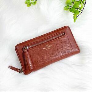 Kate spade zippy wallet genuine leather 0531
