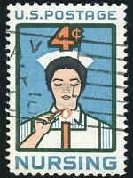 POSTAGE STAMP NURSING USA VINTAGE PHOTO ART PRINT POSTER PICTURE BMP1081A