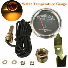 52mm Car Mechanical Water Temperature Temp Meter Gauge 100~220 ℉ 12V Black