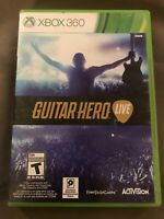 Microsoft XBOX 360 Guitar Hero Live Game GAME ONLY 2X Disc Case Manual