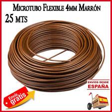 Microtubo 4mm Tuberia goteo polietileno tubo riego macetas 25 mt agricola marron