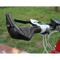 2016 Black Cycling MTB Mountain Bike Bicycle Lock-on Handlebar Grips Handle Bar