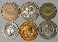 6 - Mixed Transit Tokens Collection From All Around America whotoldya Lot 82219