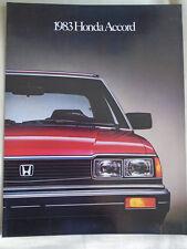 Honda Accord brochure 1983 USA market