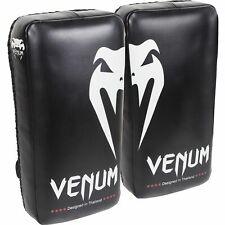 Venum Giant Kick Protections Noir Glace Muay Thai Cuir Entraîneur Kickboxing Mma